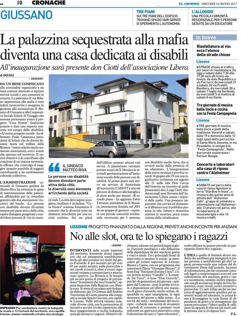 Solaris cooperativa sociale onlus opera in favore di persone in situazione di disagio - Progetto casa giussano ...
